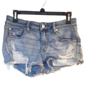 AMERICAN EAGLE NEXT LEVEL STRETCH SHORTIE SHORTS